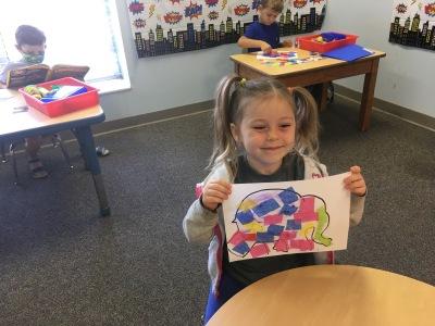 Elmer the Elephant for Letter E